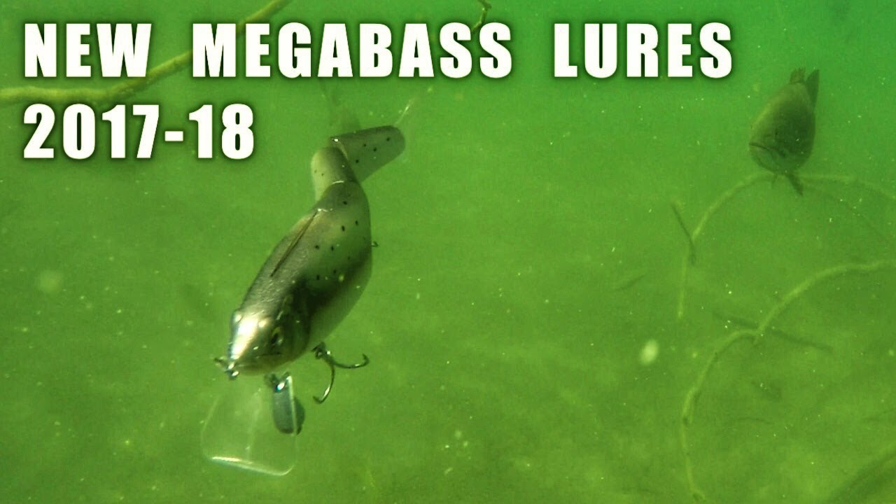 UNDERWATER FOOTAGE of NEW MEGABASS FISHING LURES for 2017