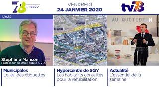 7/8 L'Hebdo. Edition du vendredi 24 janvier 2020