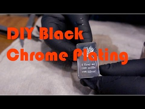 DIY Black Chrome Plating on Fake Silver