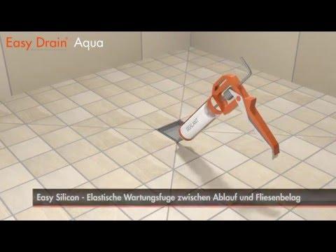 Beliebt Einbau einer Bodenablauf – Easy Drain Aqua (Deutsch) - YouTube TO72