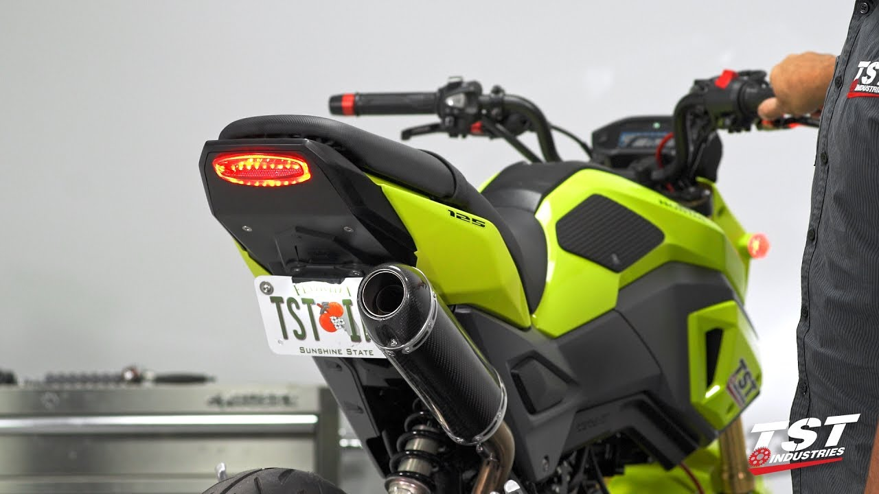 2017 Honda Grom Tyga Exhaust with TST Industries Undertail / Integrated  Tail Light