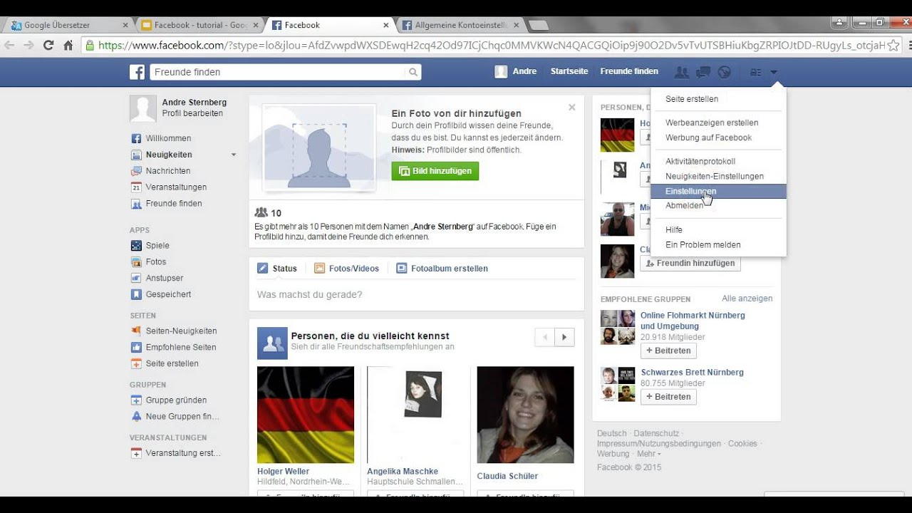 Profilbild Bei Facebook ändern