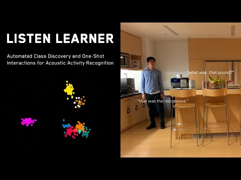 Listen Learner: Automatic Class Discovery & One-Shot Interactions for Acoustic Activity Recognition