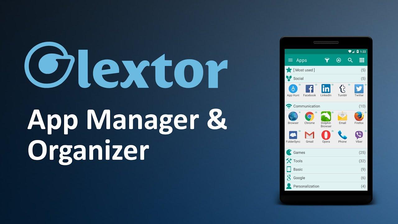 Glextor App Manager Organizer Youtube