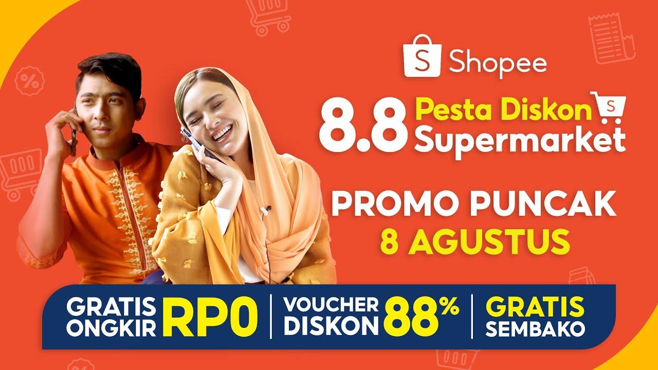 Gratis Sembako di Promo Puncak Shopee 8.8 Pesta Diskon Supermarket!