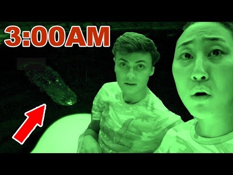 EXPLORING THE POND AT 3AM!! 😱(SUPER SCARY)