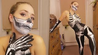 Skeleton Get Ready With Me - Skull Makeup + Outfit