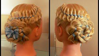 Коса из четырёх прядей с лентой и цветок из косы. Видео-урок.(Цветок из косы. Коса с лентой. Плетение. Причёски. Косы. Видео-уроки. Идеи. Канал: https://www.youtube.com/channel/UCDZzyw0sk9Fb1mYJsG..., 2015-06-10T09:53:46.000Z)