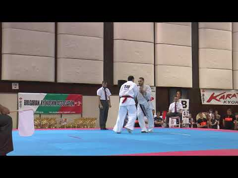 Kirill Psarev vs. Alum Yunusov. 32 European Weight Category Karate Championships
