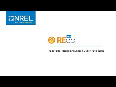 REopt Lite Tutorial: Advanced Utility Rate Input