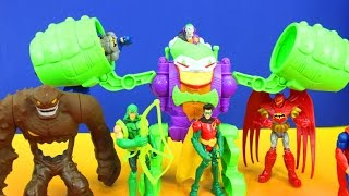 Batman The Joker Robo Rampage & Gotham City Showdown! Green Arrow Slade Clay Face Superman Play doh