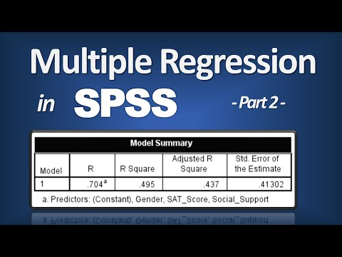 Multiple Regression in SPSS - R Square