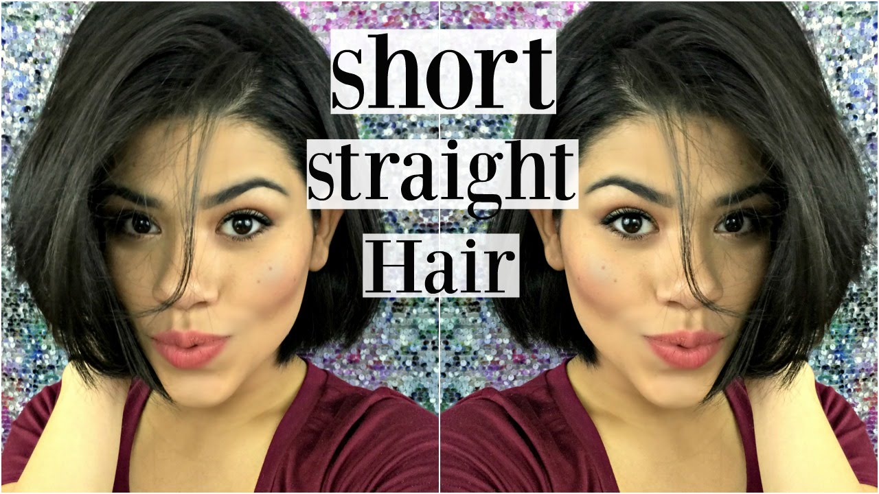 Short Hair Style Curly To Straight Bob Hair Youtube