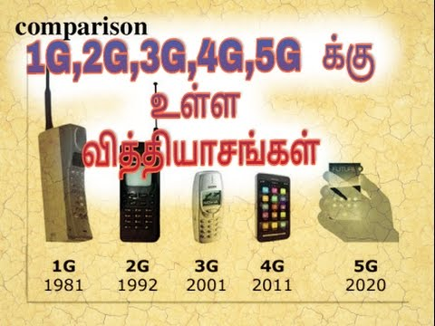 1G,2G,3G,4G,5G differences in tamil | Tamil culture