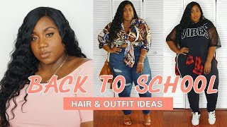 BACK TO SCHOOL WIG FOR BEGINNERS FT. WIG ENCOUNTERS  + OUTFIT  IDEAS | PLUS SIZE