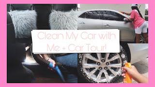 Clean My Car with Me + Car Tour!   Chevy Malibu LTZ —Meet Jade ♡