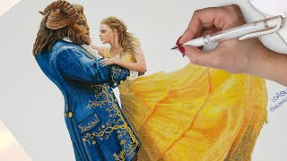 Drawing Beauty and The Beast - Disney Art