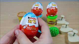 Play Doh and Handbag Hat Dress Cookie Mold with Kinder Joy Chocolate Toy