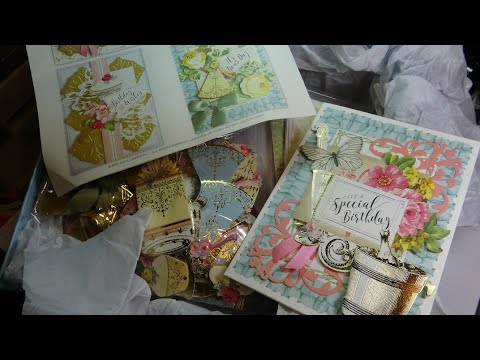 Anna Griffin Big Birthday Card Making Boxed Card Kit Unboxing & Tutorial! So Easy & Gorgeous!