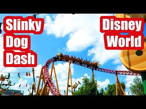 Slinky Dog Dash Roller Coaster Full PoV, Toy Story Land, Walt Disney World!