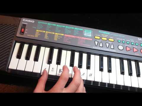 Klavier spielen: Bienchen summ herum spielen - Keyboard spielen lernen