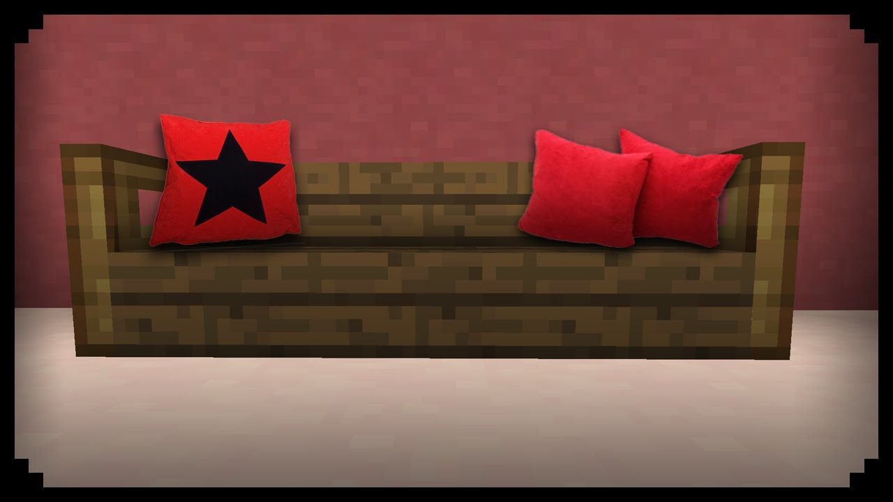 minecraft how to make a sofa pillow youtube