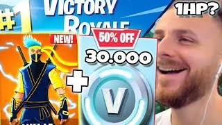 1V1 WITH IRAPHAHELL IN FORTNITE ON 30,000 VBUCKS + NEW SKIN!