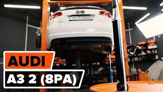 Cambiar Kit amortiguadores traseros AUDI A3 Sportback (8PA) - instrucciones en video