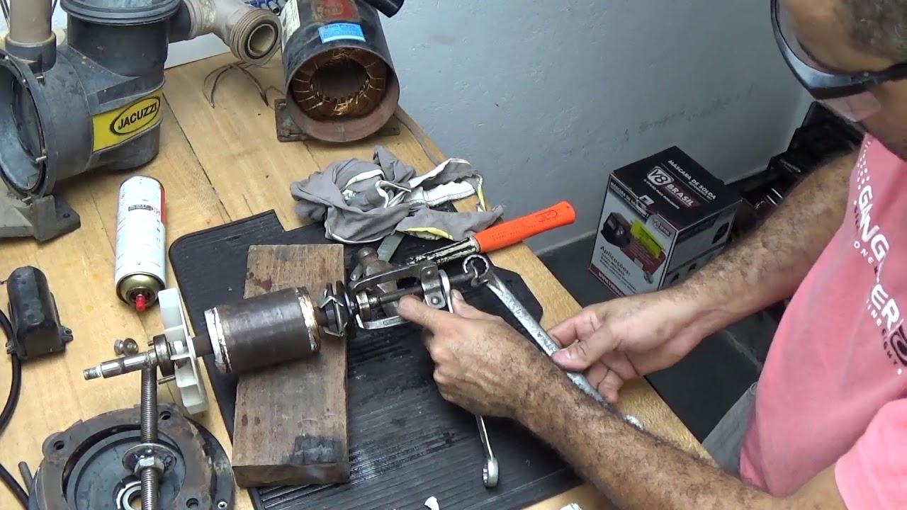 Bombas Jacuzzi Para Piscinas.Reparo Da Bomba Para Piscina Jacuzzi 1cv Desmontagem Do Motor Parte 2 5