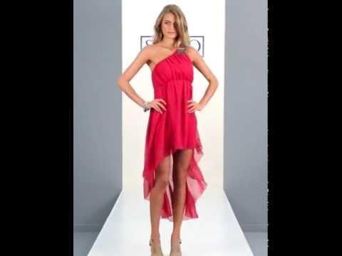 24studio - Asymmetric Embellished Drop Back Dress By AX Paris