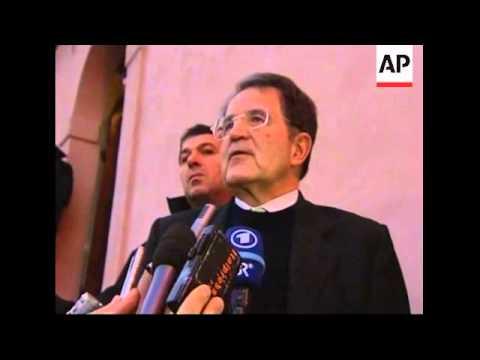 Prodi comment as political consultations under way