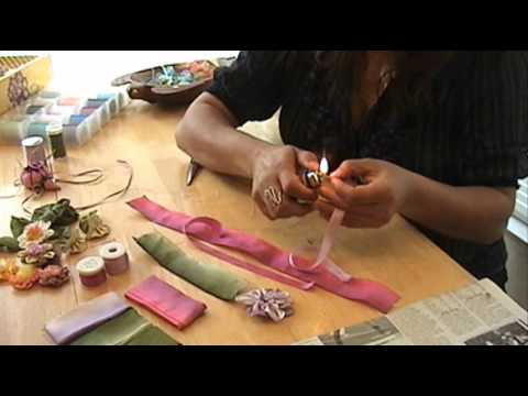 How to make a silk ribbon flower youtube how to make a silk ribbon flower mightylinksfo