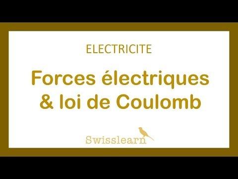 Electricité - Forces électriques, loi de Coulomb