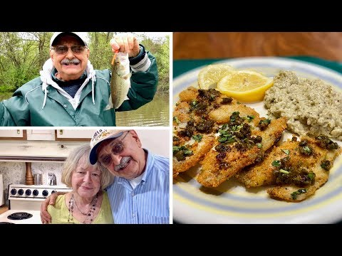 Bass Fishing For Fish Piccata (it's Low Carb, Try It, You Gotta)