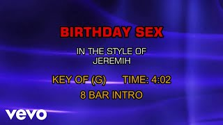 Jeremih - Birthday Sex (Karaoke)
