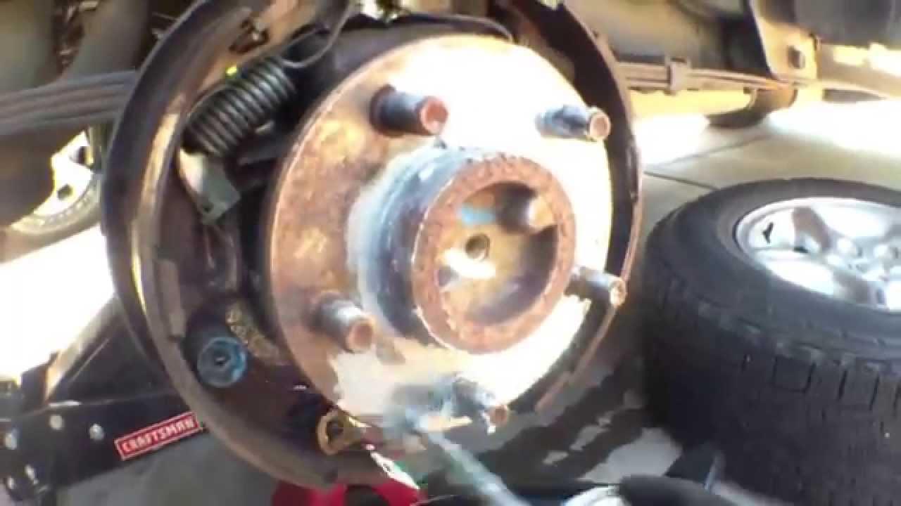 [SIMPLE] Clean adjust rear brake shoes Jeep Cherokee √  YouTube