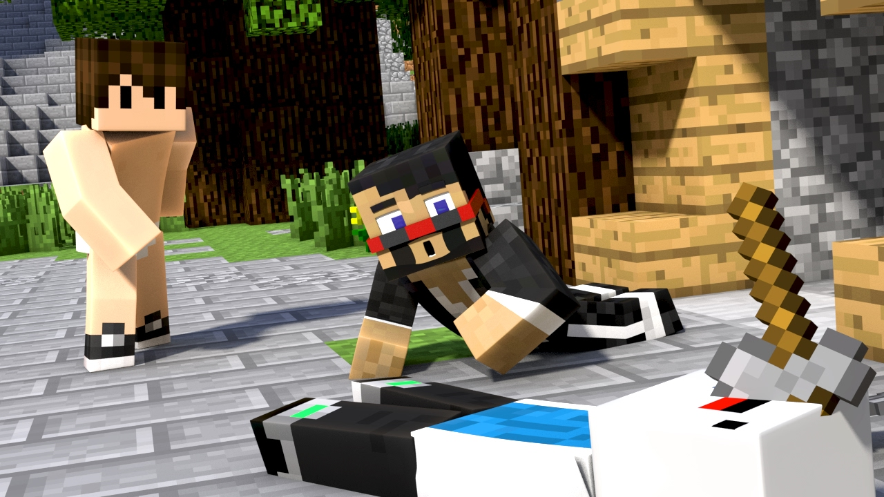 Naked Hunger Games Minecraft Animation - Youtube-6610