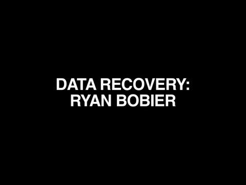 DATA RECOVERY RYAN BOBIER