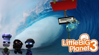 little big planet 3 multiplayer surf s up in the tsunami dude