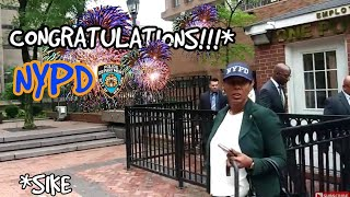 First Amendment Audit : NYPD AT 1 POLICE PLAZA GET CHEERED ON BY QUIETBOYMUSIK! Pt. 2