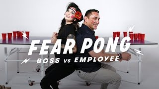 Boss & Employee Play Fear Pong (Nicole vs. Eduardo)   Fear Pong   Cut