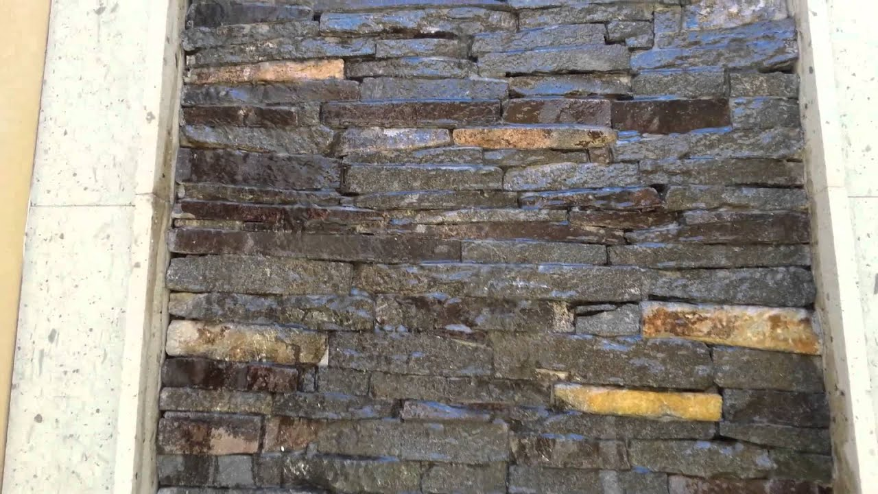 Fuente muro lloron youtube for Cascadas para jardin piedra