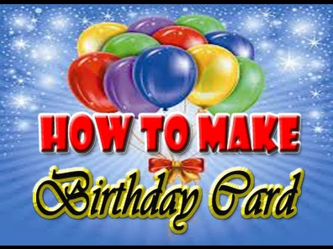 How to make birthday card using microsoft publisher - YouTube