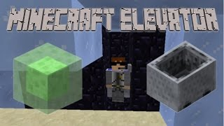 Minecart and Slime Elevator in Minecraft