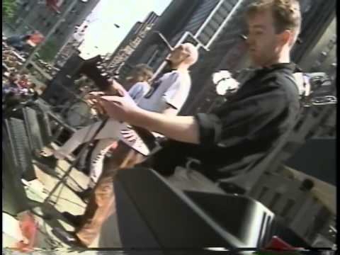 Midnight Oil -Live- (in front of the Exxon building) NYC