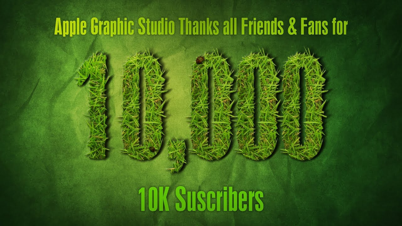 Photoshop text effects tutorial thanks for 10k subscribers youtube photoshop text effects tutorial thanks for 10k subscribers baditri Images