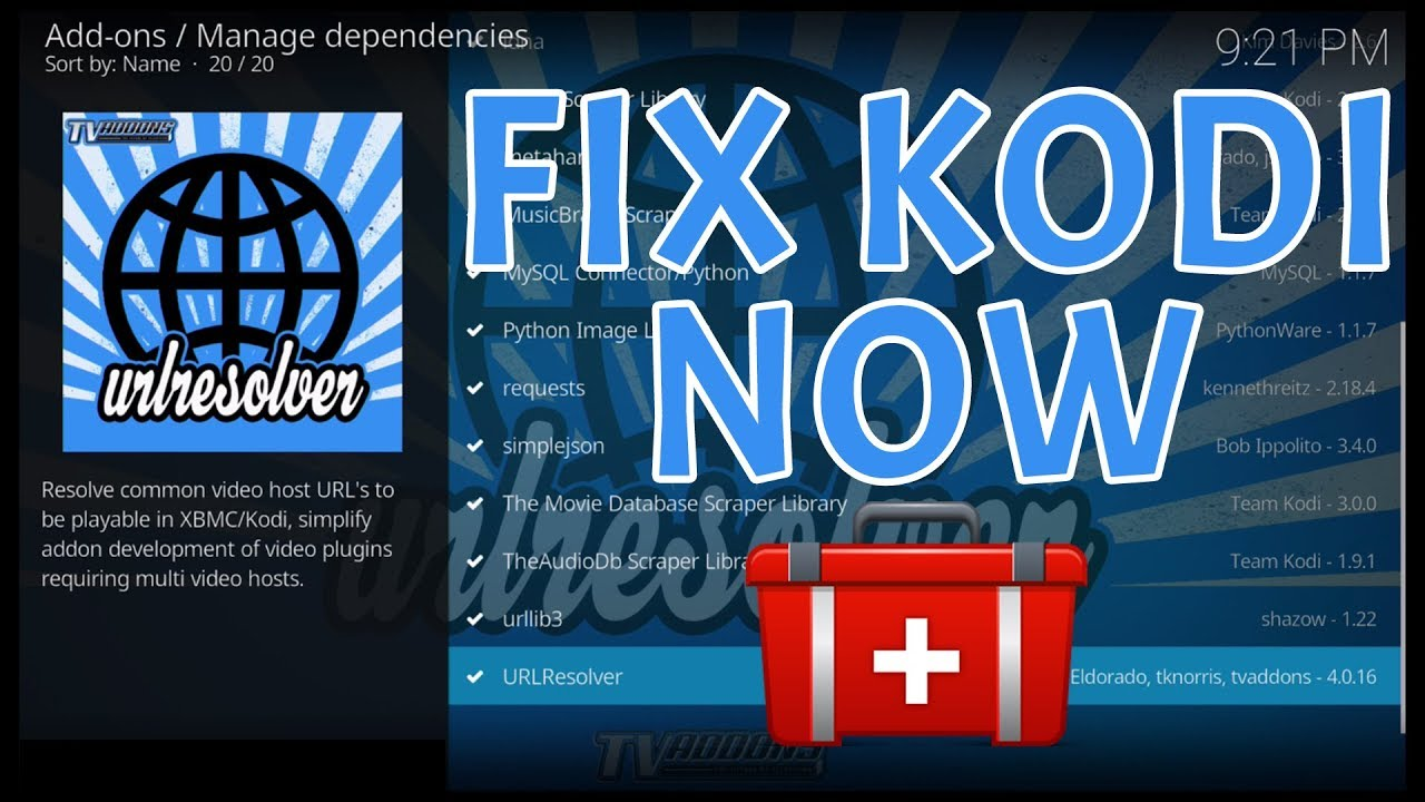 KODI URL RESOLVER FIX 2018: PROBLEMS WITH ADDONS NOT PLAYING? (FIX