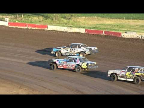 8/4/2017 Beatrice Speedway Hobby Stock Heat - 6R Armstrong Wins