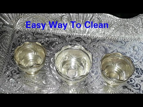 How to clean/polish silver pooja items at home || easy way to clean silver items