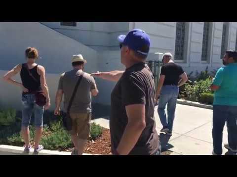 SNAKE terrifies Griffith Park Observatory TOURISTS!